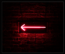 Pink Arrow Neon Sign